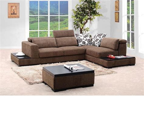 brown fabric sofa set dreamfurniture com 0805 brown fabric sectional sofa set