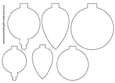 christmas ornament shapes to print handmade card ideas
