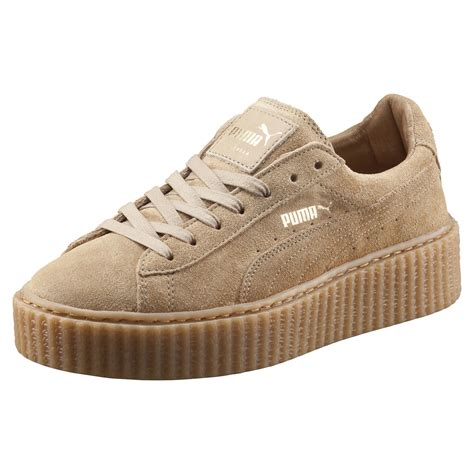 lyst x rihanna suede creepers oatmeal in