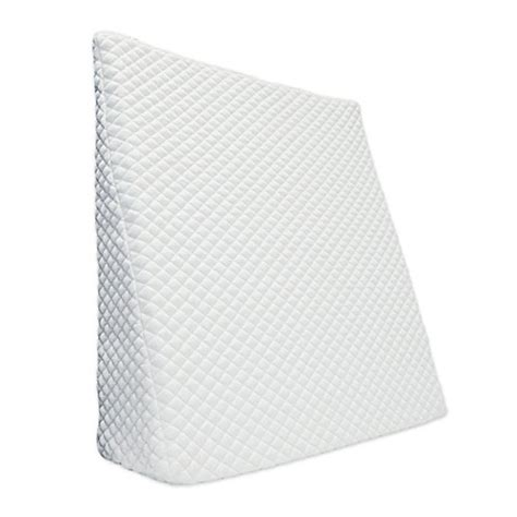 bed wedge pillow bed bath beyond therapedic 174 trucool 174 bed wedge in white bed bath beyond
