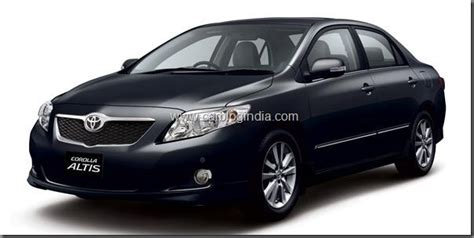 Toyota Corolla Rate In India New Toyota Corolla Altis Diesel On Road Price Specs