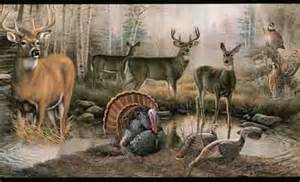 Wildlife Murals For Walls wildlife in the outdoors wallpaper border lm7906b