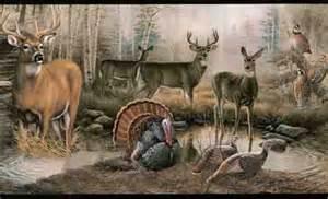 wildlife in the outdoors wallpaper border lm7906b wildlife murals wild animal scene wallpaper