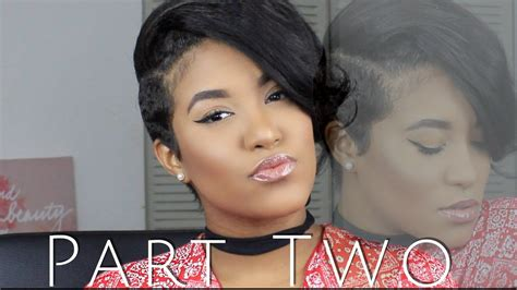 partial short weaves partial sew in weave for short hair youtube