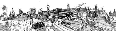 sketch in sketchbook the madras market