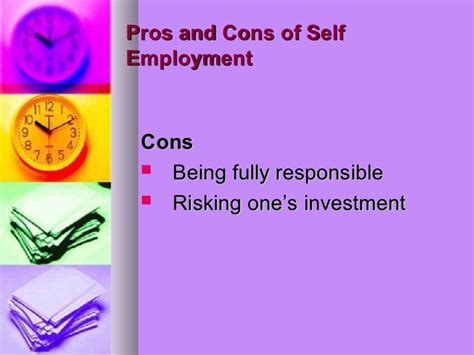 8 Cons Of Being Self Employed by Reasons For Self Employment