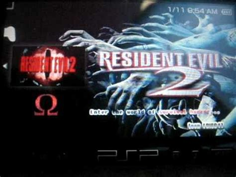 theme psp resident evil resident evil 2 4 the psx on psp youtube