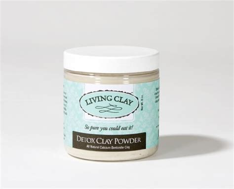 Living Clay Detox by Living Clay Detox Clay Powder 8 Oz All Calcium