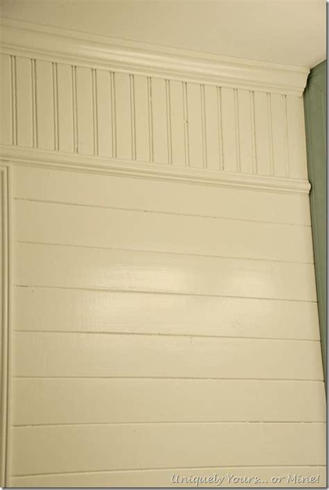 Wood Beadboard Planks Vertical And Horizontal Wood Planks Installed On Bathroom