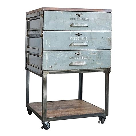 rolling cart with drawers 1940s industrial pressweld drawers rolling cart at 1stdibs