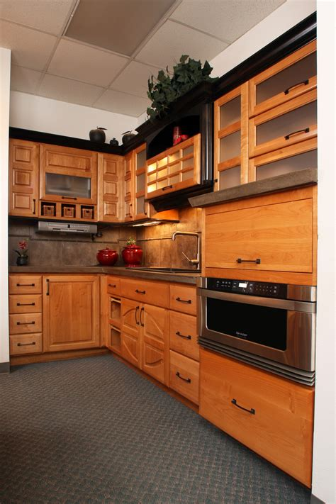 western style kitchen cabinets lift door microwave diy custom under counter microwave