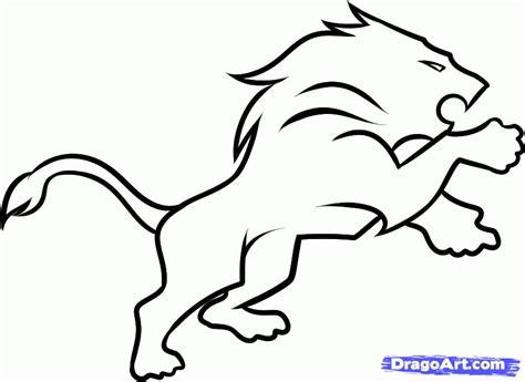 detroit lions coloring page free detroit lions logo stencil download free clip art