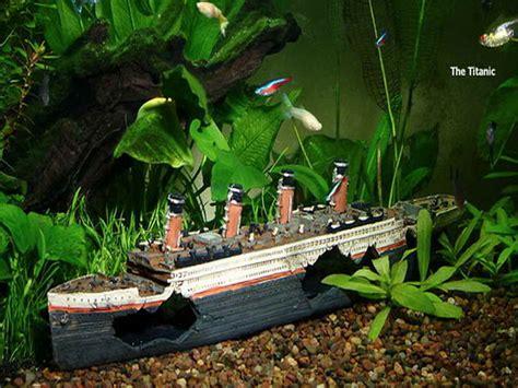 Decoration Of Aquarium by Home Accessories Cool Aquarium Decorations With Titanic
