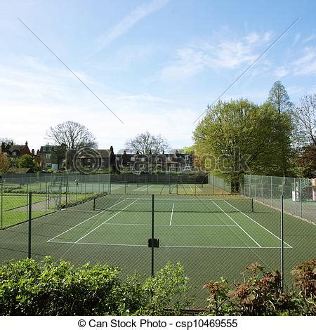 Courtview Search Stock Images Of Local Community Tennis Court View On A Day Csp10469555 Search