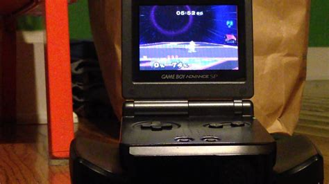 Tv Tuner Advance Atvu 388 jugando gamecube en una pantalla de boy advance sp