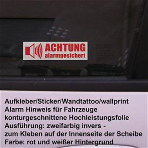 Aufkleber Scheibe Innen Entfernen by Auto Achtung Alarm Gesichert Fenster Scheiben Aufkleber