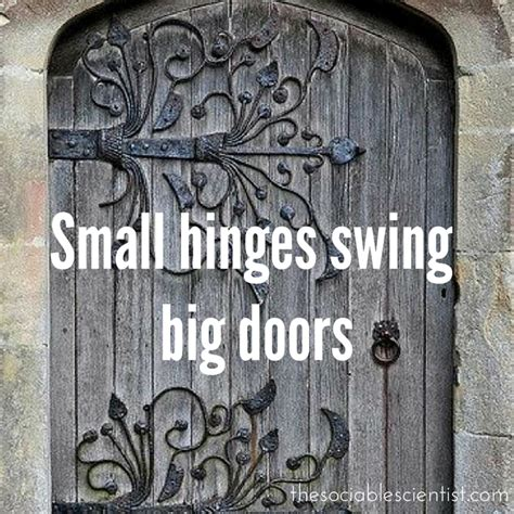 small hinges swing big doors 5 tiny habits that make huge changes the sociable scientist