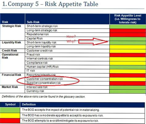 risk appetite template building an integrated and transparent approach to risk