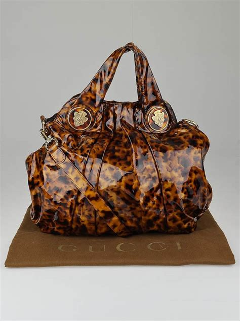 Gucci Hysteria Large Top Handle Bag by Gucci Tortoise Shell Patent Leather Hysteria Large Top