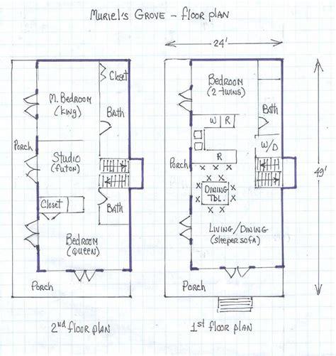 beach cottage floor plans muriel s grove