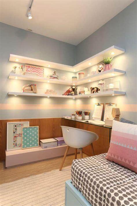 dreamlike corner wall shelves  bedroom