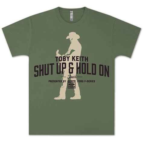 toby keith fan club toby keith shut up hold on tour fan club exclusive t