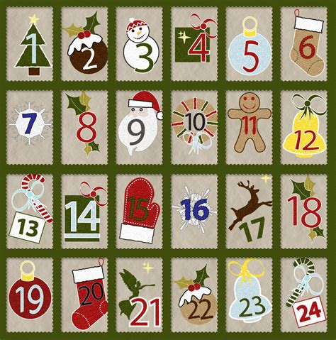 calender of christmas countdown calendar template 2016