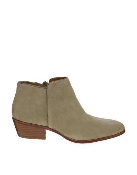 sam edelman ankle boots sam edelman petty beige ankle boots in beige lyst