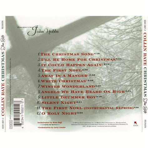the gift christmas collin raye mp3 buy full tracklist