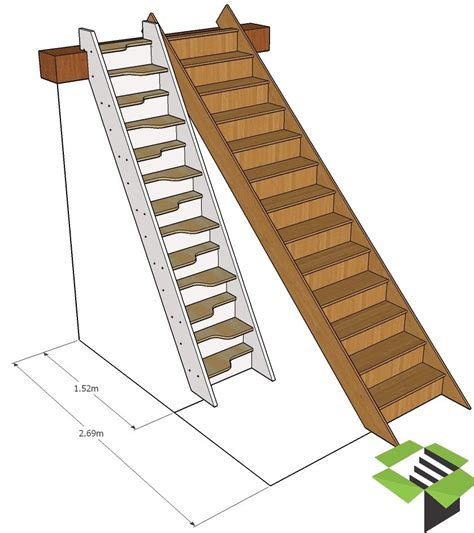 normal staircase vs spacesaver stair stairbox tiny house steps ladders pinterest