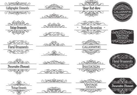 Wedding Invitation Ornament by Calligraphic Ornaments For Invitations Vector Free
