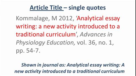 reference book review harvard style harvard style referencing an journal article