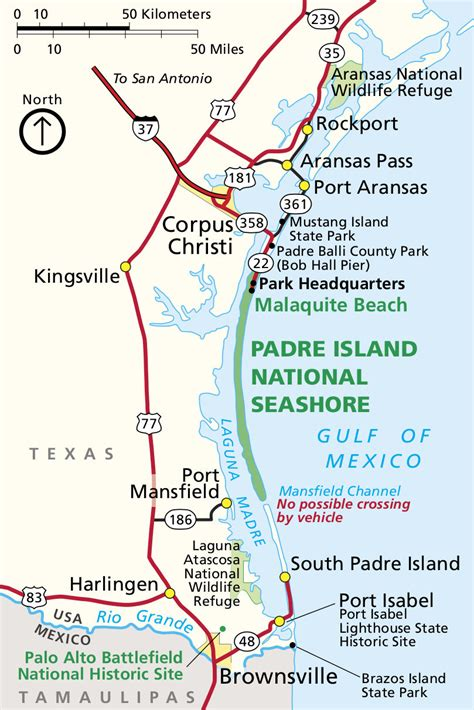 padre island texas map padre island maps npmaps just free maps period