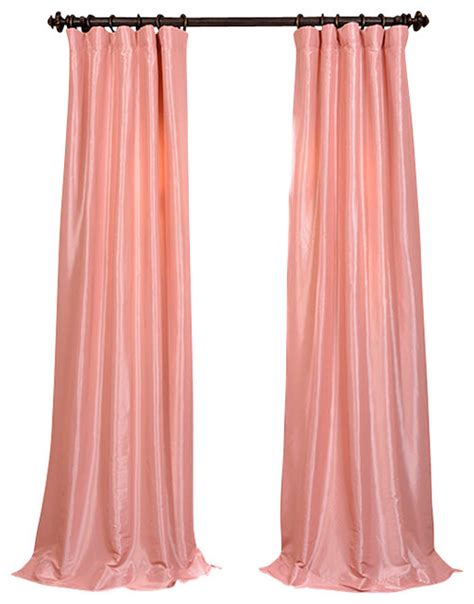 pink silk curtains flamingo pink faux silk taffeta curtain traditional