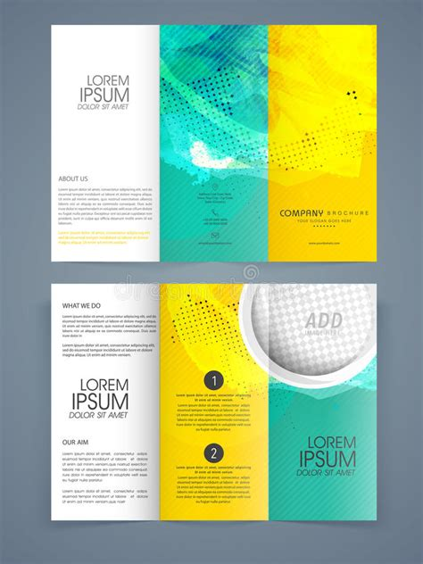 three page brochure template three page brochure template free trifold brochure