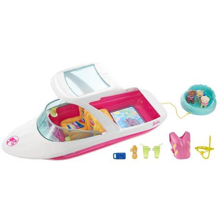 barbie dolphin boat set barbie dolphin magic ocean view boat walmart