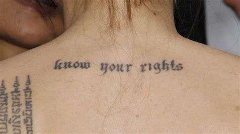 angelina jolie y sus tatto los tatuajes de angelina jolie 187 tatuajes tattoos