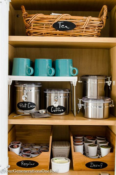 kitchen coffee station cabinet best 25 tea organization ideas on tea storage