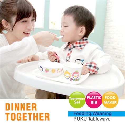 puku children tableware spoon fork chopsticks cutlery