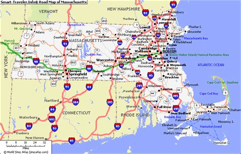 map massachusetts map of massachusetts