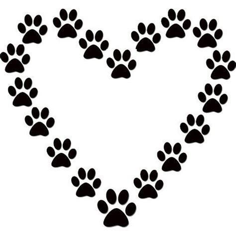 dog pawprints in a heart dogs pinterest dog