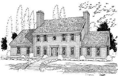 classic colonial house plans classic colonial house plan 3723tm 2nd floor master