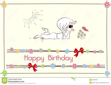 design a happy birthday card happy birthday card design stock vector image of