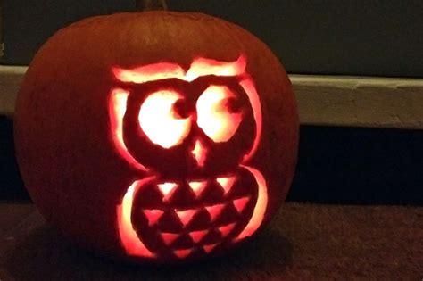 easy  cute owl pumpkin carving templates ideas