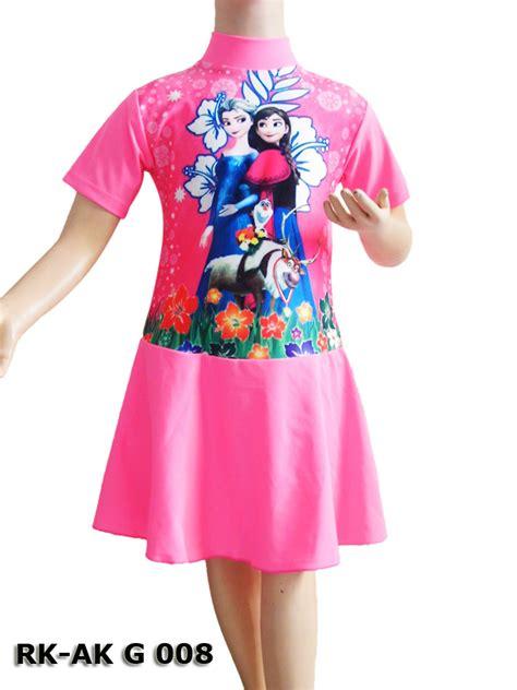 Baju Renang Diving Anak Perempuan Frozen Batita 2 Tahun baju renang diving rok rk ak g 008 2 warna distributor dan toko jual baju renang celana
