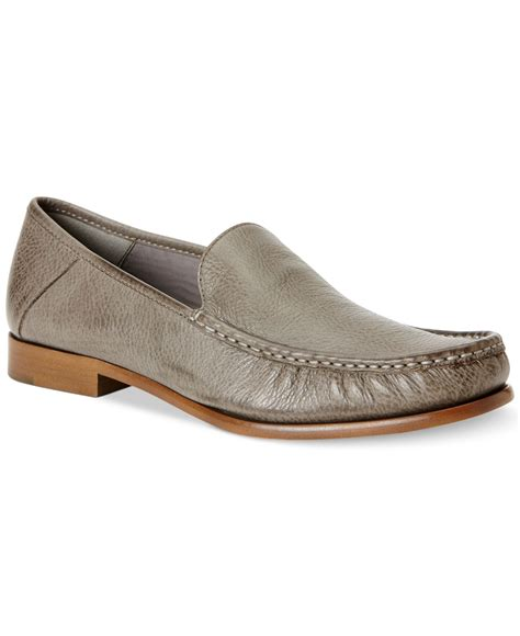 klein loafers lyst calvin klein danby loafers in metallic for