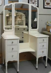 White Vintage Vanity Table Vintage Drop Well Vanity A 1930s Dressing Table Painted