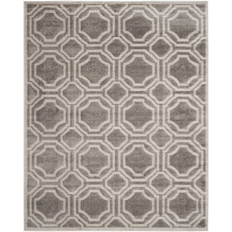 10 x 14 outdoor rug safavieh amherst gray light gray 10 ft x 14 ft indoor outdoor area rug amt411c 10 the home depot
