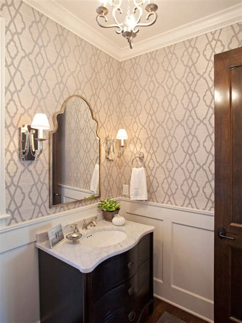 wallpaper  bathroom houzz