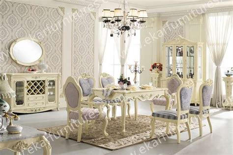 dining table set classic white italian dining table 6